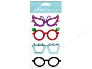 Rhinestones Framing: Jolee's Boutique Stickers Dressups Glasses