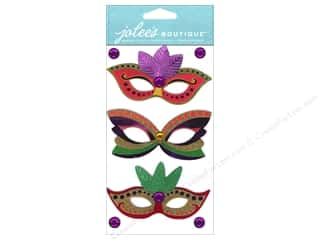Jolee&#39;s Boutique Stickers Dressups Mardi Gras Masks