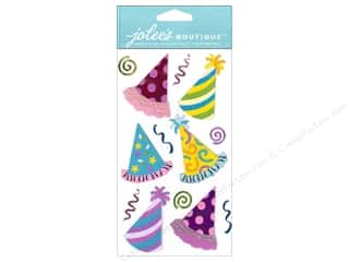 Jolee's Boutique Stickers Dressups Bright Party Hats