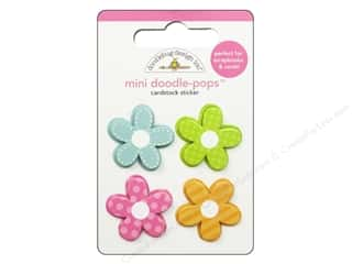 Doodlebug inches: Doodlebug Doodle-Pops 3-D Stickers Mini Bitty Blossoms