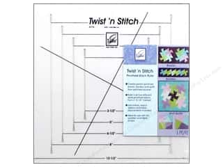 June Tailor Quilting Notions: June Tailor Quilting Twist N Stitch Pinwheel Block Ruler