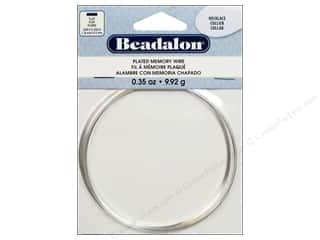 Beadalon Flat Plated Steel Memory Wire Necklace Silver .35 oz.