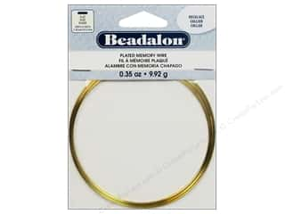 Beadalon Flat Plated Steel Memory Wire Necklace Gold .35 oz.