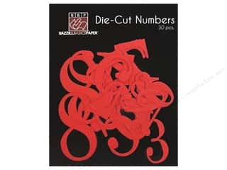 Bazzill Die Cut Numbers Fire Hearts