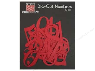 Bazzill : Bazzill Die-Cut Numbers 30 pc. Ruby Slipper