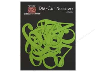 Bazzill Die Cut Numbers Intense Kiwi