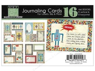 Craft Guns Blue: Bazzill Lickety Slip Journaling Cards 4 x 6 in. MAC 16 pc.