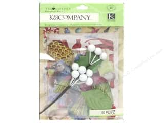 K&Company Embellishments Ephemera Pack Tim Coffey Foliage