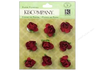 Autumn Leaves $8 - $9: K&Company Stickers Tim Coffey Foliage Paper Flowers Red