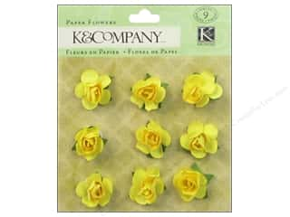 Autumn Leaves $8 - $9: K&Company Stickers Tim Coffey Foliage Paper Flowers Yellow