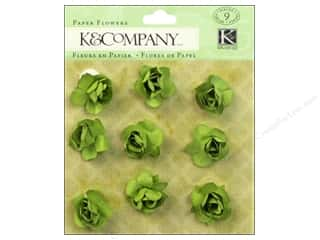 Autumn Leaves $8 - $9: K&Company Stickers Tim Coffey Foliage Paper Flowers Green
