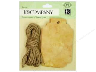 K&Company Tags Distressed Brown