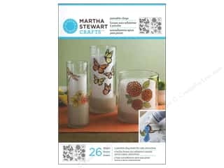 Plastic / Acetate Sheets: Martha Stewart Glass Paintable Cling BtrflyBlossom