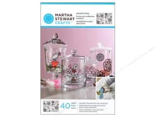 Plastic / Acetate Sheets: Martha Stewart Glass Paintable Cling Hearts/Flower