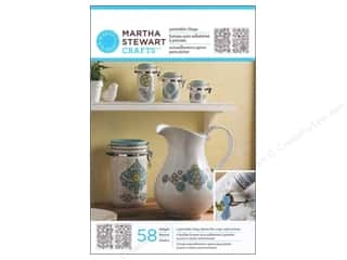 Glasses Martha Stewart Glass Paintable by Plaid: Martha Stewart Glass Paintable by Plaid Cling Ornate Flowers