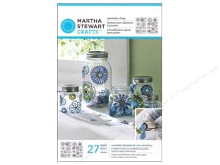 Glasses Martha Stewart Glass Paintable by Plaid: Martha Stewart Glass Paintable by Plaid Cling Modern Blossoms