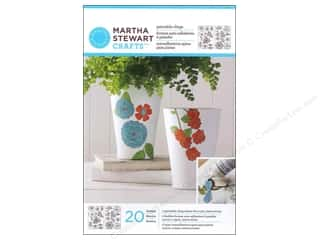Glasses Martha Stewart Glass Paintable by Plaid: Martha Stewart Glass Paintable by Plaid Cling Flowers And Leaves