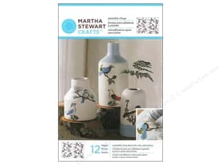 Glasses Martha Stewart Glass Paintable by Plaid: Martha Stewart Glass Paintable by Plaid Cling Woodland Birds