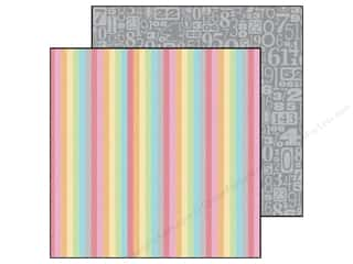 Doodlebug Paper 12 x 12 in. Take Note Tweed Stripe (25 piece)