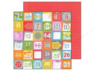 Note Cards ABC & 123: Doodlebug Paper 12 x 12 in. Take Note Countdown (25 pieces)
