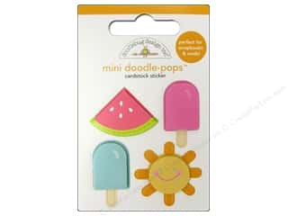 3-D Stickers / Fuzzy Stickers / Foam Stickers: Doodlebug Doodle-Pops 3-D Stickers Mini Summer Fun
