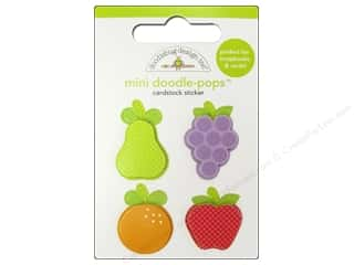 3-D Stickers / Fuzzy Stickers / Foam Stickers: Doodlebug Doodle-Pops 3-D Stickers Mini Fruit Cocktail