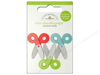 sticker: Doodlebug Doodle-Pops 3-D Stickers Mini Crafty Cutters