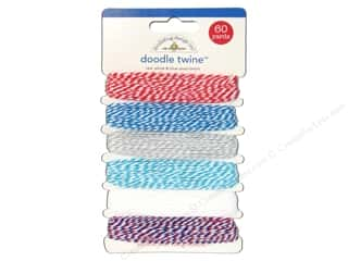 Doodlebug Doodle Twine 6pc Assorted Red White Blue