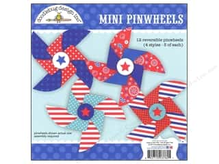 Doodlebug Embel Craft Kit Stars &amp; Stripes Pinwheel