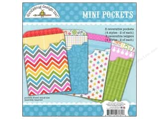 Craft Embellishments: Doodlebug Embellishment Craft Kit Take Note Mini Pockets