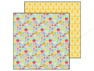 Fruit & Vegetables: Doodlebug Paper 12 x 12 in. Fruit Stand Fruit Cocktail (25 pieces)