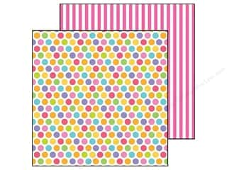 Doodlebug inches: Doodlebug Paper 12 x 12 in. Fruit Stand Fruity Dots (25 pieces)