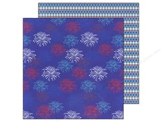 Doodlebug Paper 12 x 12 in. Stars &amp; Stripes Fireworks (25 piece)