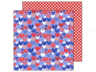 Doodlebug Paper 12 x 12 in. Stars &amp; Stripes Heartland (25 piece)
