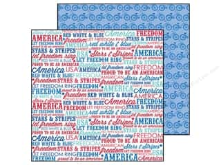 Doodlebug Paper 12 x 12 in. Stars &amp; Stripes Americana (25 piece)