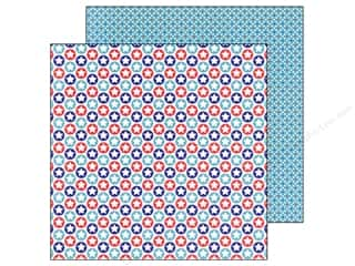 Doodlebug Paper 12 x 12 in. Stars & Stripes Star Spangled (25 piece)