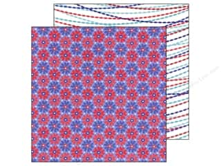 Doodlebug Americana: Doodlebug Paper 12 x 12 in. Stars & Stripes Freedom Flower (25 pieces)