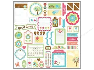 Doodlebug Stickers Cardstock This & That Flower Box