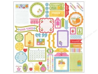 theme stickers  summer: Doodlebug Stickers Cardstock This & That Fruit Stand