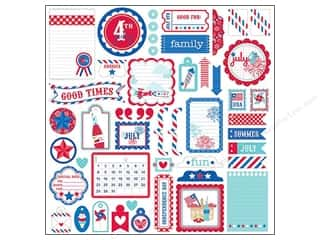 Doodlebug Americana: Doodlebug Stickers Cardstock This & That Stars & Stripes