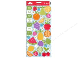 Fruit & Vegetables Scrapbooking & Paper Crafts: Doodlebug Stickers Cardstock Icons Fruit Stand