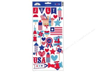 sticker: Doodlebug Sticker Cdstk Icons Stars&amp;Stripes