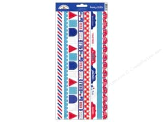 Doodlebug Stickers Cardstock Fancy Frills Stars & Stripes
