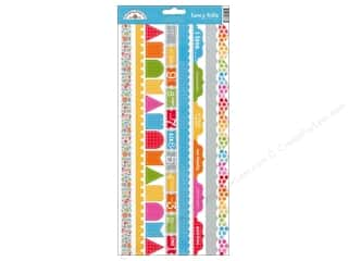 Borders: Doodlebug Stickers Cardstock Fancy Frills Take Note