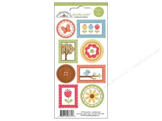 Caption Stickers / Frame Stickers: Doodlebug Sticker Doodle Seals Flower Box