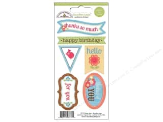 Caption Stickers / Frame Stickers: Doodlebug Sticker Doodle Tags Flower Box