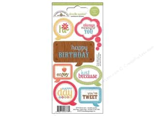 Caption Stickers / Frame Stickers: Doodlebug Sticker Doodle Quotes Flower Box