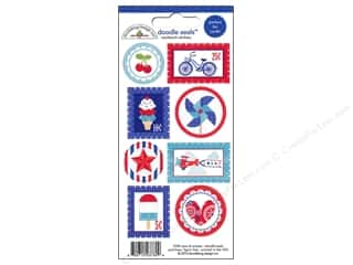 Doodlebug Independence Day: Doodlebug Stickers Doodle Seals Stars & Stripes