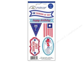 Independence Day $6 - $10: Doodlebug Stickers Doodle Tags Stars & Stripes