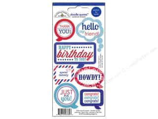 Doodlebug Independence Day: Doodlebug Stickers Doodle Quotes Stars & Stripes